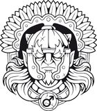 Griechischer Gott des Krieges Ares stock abbildung