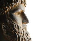 Griechischer Gott im Profil Lizenzfreie Stockfotografie