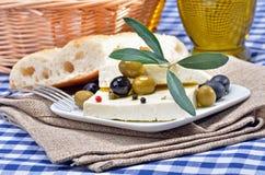 Griechischer Käse stockbild