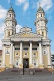 Griechischer Katholisch-heilige Querkathedrale, Uzhhorod stockfotos