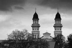 Griechischer Katholisch-Kathedrale, Uzhgorod, Ukraine stockfotografie