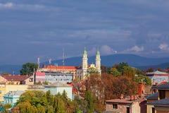 Griechischer Katholisch-Kathedrale in Uzhhorod, Ukraine stockbilder