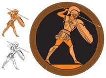 Griechischer Krieger Stock Abbildung