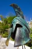 Griechischer Kriegsturzhelm der Replik Stockfoto