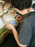 Griechischer Maler Lizenzfreie Stockbilder