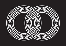 Griechischer Muster-Link Stockbild