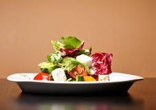 Griechischer oder italienischer Salat lizenzfreie stockfotografie
