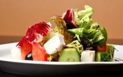 Griechischer oder italienischer Salat stockbild