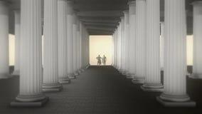Griechischer Roman Senators Talking Inside Roman Temple stock abbildung