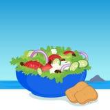 Griechischer Salat lizenzfreie abbildung