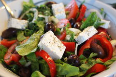Griechischer Salat Stockbild