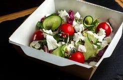 Griechischer Salat mit brynza Stockfotografie