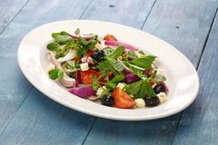 Griechischer Salat mit Purslane Stockfotos