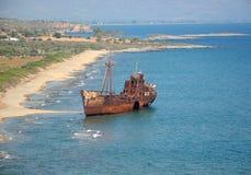 Griechischer Schiffbruch Lizenzfreies Stockbild