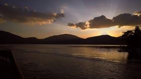 Griechischer Sonnenuntergang Stockfotografie