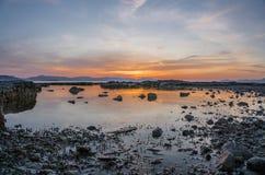 Griechischer Sonnenuntergang Lizenzfreie Stockfotografie
