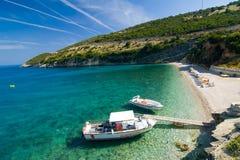 Griechischer Strand Stockfoto