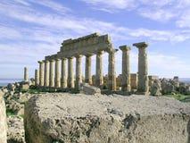Griechischer Tempel im selinunte  lizenzfreie stockfotos