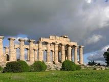 Griechischer Tempel im selinunte Stockbild