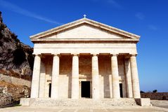 Griechischer Tempel in Kerkyra Stockbilder