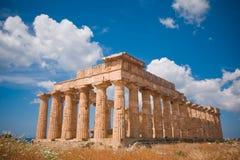 Griechischer Tempel in Selinunte Stockfotos