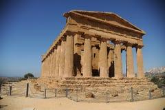 Griechischer Tempel von Concordia Stockfotografie