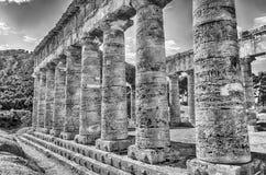 Griechischer Tempel von Segesta Stockbilder