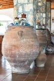 Griechischer Vase im Innenraum Stockfotos