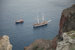 Griechisches ägäisches Oia-Santorini Stockfoto