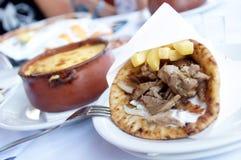 Griechisches Abendessen Lizenzfreie Stockfotos