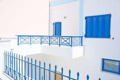 Griechisches Blaues und rosafarben. Stockfotos