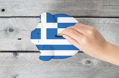 Griechisches Einsparungskonzept Lizenzfreie Stockbilder