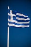Griechisches falg Lizenzfreie Stockfotografie