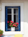 Griechisches Fenster Stockfotografie