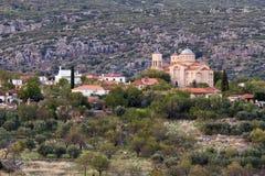 Griechisches Festland-Dorf Stockfotos