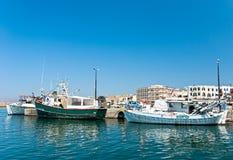 Griechisches Fischerboot. Lizenzfreie Stockfotos