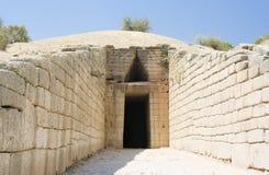 Griechisches Grab von agamemnon Stockbild