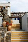Griechisches Haus Stockfotos