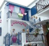Griechisches Haus Lizenzfreie Stockfotografie
