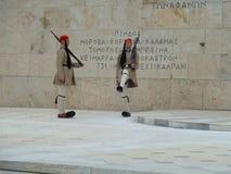 Griechisches Hochschrittändern des Schutzes Stockfotografie