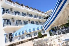 Griechisches Hotel, Korfu. Stockbild