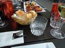Griechisches Mittagessen Stockfoto