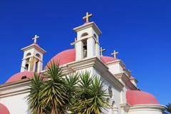 Griechisches orthodoxes Kloster des Meeres von Galiläa lizenzfreies stockbild