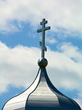 Griechisches orthodoxes Kreuz Stockbilder