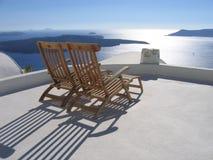Griechisches Panorama Lizenzfreies Stockfoto