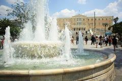Griechisches Parlamentsgebäude in Athen Stockfoto