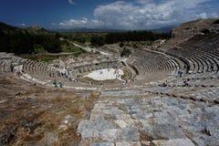 Griechisches Theater von Ephesus Stockbilder