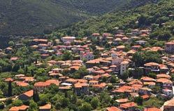 Griechisches traditionelles Dorf bei Arkadia, Stockfotos