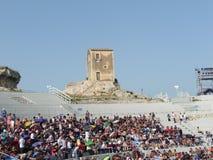 Griechisches tragedies-2011 Stockbilder