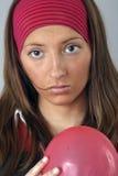 Grief. Girl Olga, trial shooting in studio Stock Photography